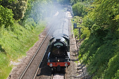 60103 - Flying Scotsman (Signal Box - Railway photography) Tags: railway railroad ukrailway mainline steam engine locomotive outdoor whitchurch hampshire steamdreams flyingscotsman 60103 steamtrain