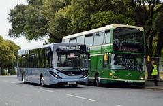 YX19ONV (PD3.) Tags: dday75 d day 75 portsmouth pompey hampshire hants england uk united kingdom president trump queen wwii ww ii southsea cosham park ride xelabus bus buses common world war 2 adl enviro 200 yx19onv yn19 onv