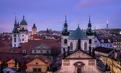 Prague (pietkagab) Tags: prague czech republic towers church churches oldtown skyline sky evening twilight rooftops europe european pietkagab photography piotrgaborek sonya7 travel trip tourism sightseeing buildings architecture city old capital cityscape