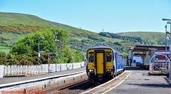 156439 @ Girvan (A J transport) Tags: class156 supersprinter 156439 scotland scotrail saltirelivery railway trains