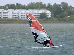wind surfing -  Mill Creek Hampton Virginia (watts photos1) Tags: wind surfing mill creek hampton virginia water sail sailing red blue