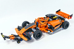 """Formula Racer - LEGO Technic 42093 D Model (""""grohl"""") Tags: formula f1 car racer racing racecar speed fast legotechnic 42093 grohld grohl666 alternate model milan reindl technic functions"""