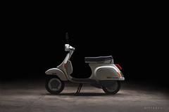 Piaggio vespa pk 50 xl (nietsab) Tags: piaggio vespa pk50xl pk 50 xl plurimatic scooter blanc pentax 50mm 17 yongnuo yn360 manual lens sony a7 ilce7 nietsab light painting lightpainting pentaxm