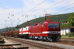 FWK 143 936-3 und 143 822-5 Holzzug, Gemünden am Main (michaelgoll777) Tags: fwk ebs br143