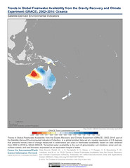 Trends in Global Freshwater Availability from the Gravity Recovery and Climate Experiment (GRACE), 2002–2016: Oceania (SEDACMaps) Tags: oceania agriculture climate water remotesensing sustainability ciesin sedac maps
