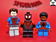 Spider-Man: Into the Spider-Verse (HaphazardPanda) Tags: lego figs fig figures figure minifigs minifig minifigures minifigure purist purists character characters comics comic book books story group super hero heroes superhero superheroes marvel spidey spider man spiderman spiderverse verse into the gwen stacy spidergwen peter b parker miles morales