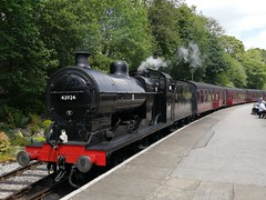 BR (LMS) 4F 43924 - Oxenhope (dwb transport photos) Tags: britishrailways lms 43924 oxenhope keighleyworthvalleyrailway