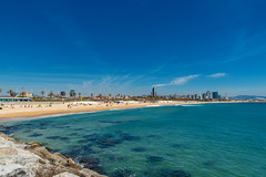 Platja del Bogatell (svetlana.koshchy) Tags: barcelona spain espana sea mediterranean travel trip europe beach sand coast coastline sky