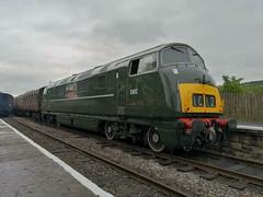 BR Class 42 Warship D832 'Onslaught' - Ramsbottom 020619 (dwb transport photos) Tags: britishrailwayswarshiplocomotived832onslaughtramsbottomeastlancsrailway