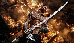 Red dragon (Migan Forder) Tags: male katana theforgestore hero japan