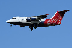 BAe146 RJ70, G-ETPK (WestwardPM) Tags: bae146 rj70 getpk qq102 gbvrj etps qinetiq cornwallairportnewquay newquayairport