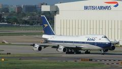 BA 744 G-BYGC BOAC Retro 4 (Spenair777) Tags: boac retro british airways jet boeing 747 744 747400 gbygc flywinglets lhr heathrow 100 years