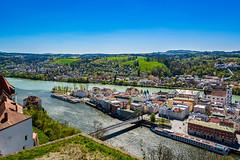 Passau Germany (achavtur) Tags: passau fortress vesteoberhausfortress photography germany danube panorama innriver rivers vikingrivercruise bavaria