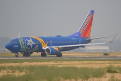 N727SW (LAXSPOTTER97) Tags: southwest airlines boeing 737 737700 n727sw nevada battle born one livery paint scheme cn 27859 ln 274 aviation airport airplane kpdx