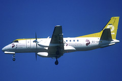 Lagun Air Saab 340A EC-IUP BCN 18/09/2004 (jordi757) Tags: airplanes avions nikon f90x kodachrome kodachrome64 bcn lebl barcelona elprat saab saab340 lagunair eciup