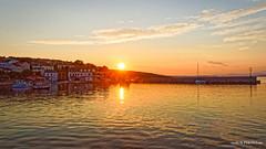 Šilo, sun get down (malioli) Tags: dusk sunset sea adriatic sun town place port sky clouds seascape krk croatia hrvatska europe canon