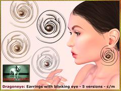 Bliensen - Dragoneye - earrings (Plurabelle Laszlo of Bliensen + MaiTai) Tags: jewelry bliensen bliensenmaitai secondlife sl dragon earrings goth gothic fantasyjewelry roleplay
