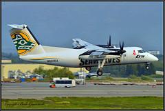 "N887EA Era Alaska ""Seawolves"" (Bob Garrard) Tags: n887ea era alaska seawolves de havilland canada dhc8 dash 8 university anchorage nanooks fairbanks anc panc"