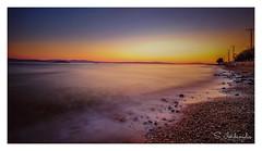 Greek Summer Sunset (Stathis Iordanidis) Tags: seascape sea greece island greek travel destinations summer holidays sunset romantic water blured sundown aggistriisland