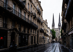 A Quiet Avenue in Bordeaux (MikeTheExplorer) Tags: bordeaux france europe travel traveling traveler wanderlust explore cathedral architecture street streetphotography avenue fujifilmxt100 fujifilm camera composition cloudy cloudyday