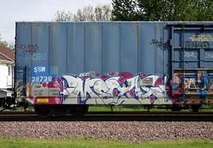 Meca (quiet-silence) Tags: graffiti graff freight fr8 train railroad railcar art meca ta bcj boxcar flat goldenwest ssw28739