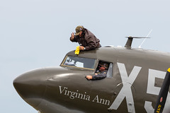 N62CC Douglas C-47 Dakota 'Virginia Ann' (amisbk196) Tags: airfield aircraft dday dday75 flickr amis aviation unitedkingdom daksoverduxford 2019 uk duxford n62cc douglas c47 dakota dc3