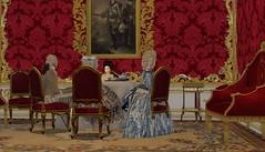 Tea with Knyaginya Dashkova (Ludwikamaria) Tags: saint petersburg second life historical roleplay royal court catherine ii great 18th century russia princess dashkova golitsyna prince golitsyn countess rumyantseva thats what your virtual reenactment needs