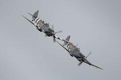 Daks Over Duxford (amisbk196) Tags: airfield aircraft dday dday75 flickr amis aviation unitedkingdom daksoverduxford 2019 uk duxford mh434 ml407 spitfire