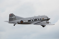 N8336C Douglas C-53 Skytrooper (amisbk196) Tags: airfield aircraft dday dday75 flickr amis unitedkingdom aviation 2019 daksoverduxford uk duxford douglas c53 skytrooper civilairtransport dc3 dakota