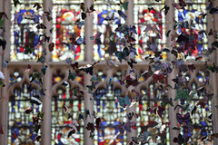 iMigration 2 (Elios.k) Tags: horizontal indoors nopeople artwork workofart art artpiece sculpture imigration2 anthonyhead artist butterfly butterflies manybutterflies hanging string paper paperbutterfly dof depthoffield shallowfocus focusonforeground backgroundblur bokeh window stainedglass colourful light church interior abbey bathabbey architecture anglicanchurch gothic style romancatholic colour color travel travelling march 2018 vacation canon camera photography canon5dmkii bath somerset england uk unitedkingdom europe