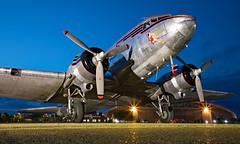 NC24320 - Douglas DC-3A - EGSU (Seán Noel O'Connell) Tags: nc24320 douglas dc3a dc3 johnsonflyingserviceinc missmontana daksoverduxford duxford egsu dday wwii nightphotography aviation avgeek aviationphotography planespotting