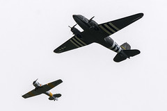 D-Day 75 Flypast - Beachy Head 05.06.2019 (CNThings) Tags: june sussex nikon aircraft eastbourne ww2 75 usaf dc3 normandy dday dakota eastsussex raf 1944 beachyhead chrisneal commemoration 2019 flypast d7200 cnthings 330647 1747 harvard virginiaann