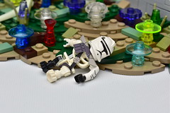Died Like A Hero (WG Productions) Tags: lego starwars moc galactic republic gar grand army clonewars clone trooper 327th star corps b1 battle droid b2 super battledroid felucia firefight jetpack jettrooper separatist cis jungle