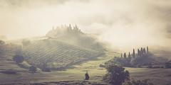 THE farmhouse (stephen.darlington) Tags: italy building farmhouse tuscany poderebelvedere panorama mist misty sunrise landscape italia pienza toscana valdorcia cipressi sanquiricodorcia