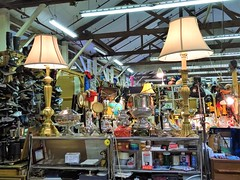 Lights (knightbefore_99) Tags: vancouver terminal cool flea market red barn puce bc awesome crap lights mercado cheap table cups duo pair two