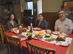 Memorial Day Dinner and Dessert (Pictures by Ann) Tags: memorialday memorialday2019 patriotic meal dinner food special specialmeal indoorpicnic raining alternativeplan sophia olivia paige partylikeits1776 napkins plates flag