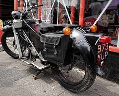 1956 Velocette. 973 YUP (Simon W. Photography) Tags: motorcycles classicmotorcycles vehicles vintagemotorcycles vintagemopeds brighouse1940sweekend brighouse 1940sweekend 1940s calderdale westyorkshire england wartimeevent wartimeevent2019 vintagefestival victoryrolls hairstyle armedforces nostalgic nostalgia fashion vintage festival retro ww2 1940svintage livinghistory history historic war wwi wwii
