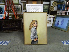 Charlie's Angels (knightbefore_99) Tags: vancouver terminal cool flea market red barn puce bc awesome crap charlie angel painting hair seventies lame