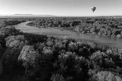 Hot Air Balloon Ride - Albuquerque, New Mexico (BeerAndLoathing) Tags: aerialphotography newmexico rp newmexicotrip blackwhite aerial canon albuquerque usa spring rainbowryders roadtrip trips river riogrande hotairballoon canonef1740mmf4lusm canoneosrp 2019 bw balloonride nm april blackandwhite