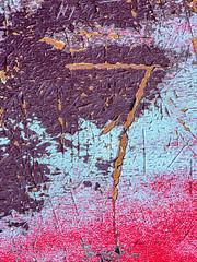 Cracking The Code (jaxxon) Tags: 2019 d610 nikond610 jaxxon jacksoncarson nikon nikkor lens nikon105mmf28gvrmicro nikkor105mmf28gvrmicro 105mmf28gvrmicro 105mmf28 105mm macro micro prime fixed pro abstract abstraction rusty crusty cracked cracking peeling paint car hood scratches scratched metal rust sacredsymbol symbols painted secret information language