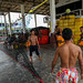 Work hard on board and play harder at portMuenfin-pier, Phang Nga, Thailand