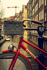 Bicycle (ROGOdesign) Tags: verde red bicycle canal canals amsterdam amsterdamcity iamsterdam city cityscape streetphotography street urban feats holland bike cycling bikelife carlifestyle