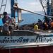 the fisher man work on their boat, Phang Nga, Thailand