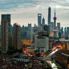P0000568 Shanghai Sunrise - 02-Jun-2019 (f/13 photography) Tags: shanghai china pudong cbd long exposure clouds river downtown sunrise dawn skyline cityscape architecture buildings skyscrapers pearl tower phase one iq4 iq4150 150mp alpa 12max max rodenstock hr 90 lens