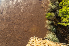 Hot Air Balloon Over the Rio Grande - Albuquerque, New Mexico (BeerAndLoathing) Tags: aerialphotography usa rp newmexicotrip canon riogrande aerial albuquerque rainbowryders roadtrip trips river balloonride hotairballoon canonef1740mmf4lusm canoneosrp spring newmexico 2019 nm april