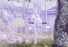 Porcelain China Doll (Teuila Porcelain (Ladainia inworld)) Tags: purepoison poison pure porcelain china porcelainchina white blue flowers floral flowersandals sandals uberevent uber shoes innocent light lolita meadow garden fantasy