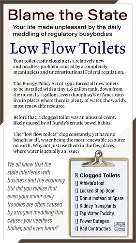 Thank the State: Low Flow Toilet