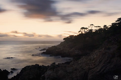 Cypress Cliff (amymedina.photoart) Tags: longexposure sunset cliff 17 mile drive carmel central coast cypress painterly seascapes tree landscape photography sky clouds