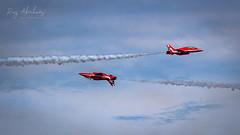 The Inverted Pass (RTA Photography) Tags: torbayairshow2019 torbayairshow paignton torbay rtaphotography nikon d750 raf redarrows sky jets hawkjets red smoke display outdoors aerobatics