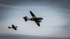 Dakota & Spitfire (RTA Photography) Tags: torbayairshow2019 paignton torbay rtaphotography nikon d750 torbayairshow dakota spitfire sky planes flying battleofbritainmemorial vintage douglasc47 dday ww2 worldwartwo douglas